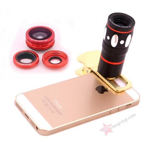 Профессиональный набор объективов Clamp Lens 4 in 1