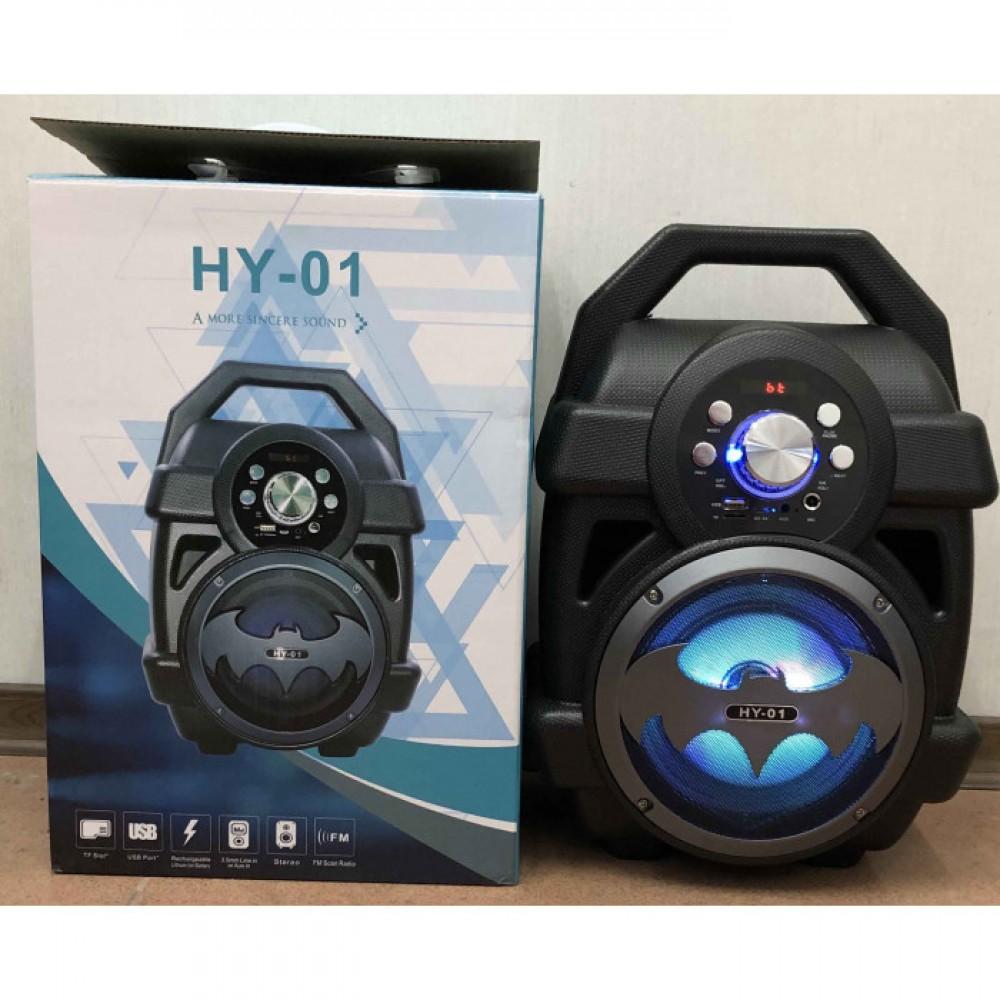 6b92d0ea3d1 Портативный бумбокс Portable HY-01 LED Super Bass Bluetooth Speaker