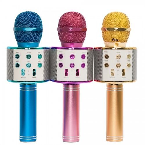 Колонка с функцией Караоке Микрофона Handheld WS-858 (USB, microSD, AUX, Bluetooth)