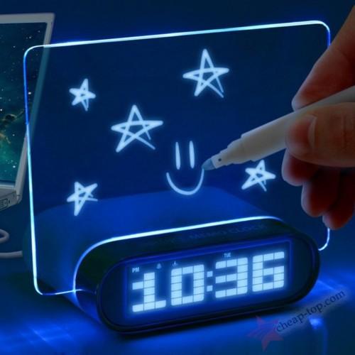 Электронные часы настольные с LED доской HighStar