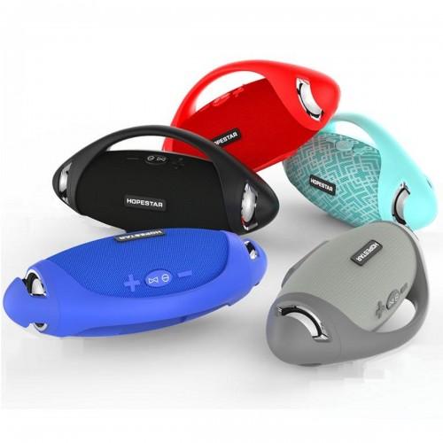 Портативная влагозащищенная стерео колонка Hopestar H37 (Bluetooth, MP3, AUX, Mic)