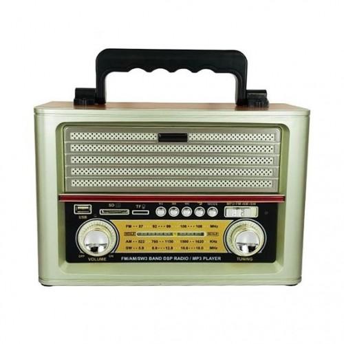 Портативная беспроводная Ретро акустика с радио и плеером MD-1705BT