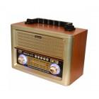 Портативная Ретро колонка - радиоприемник Kemai MD-1705U (USB, SD, FM, AUX)