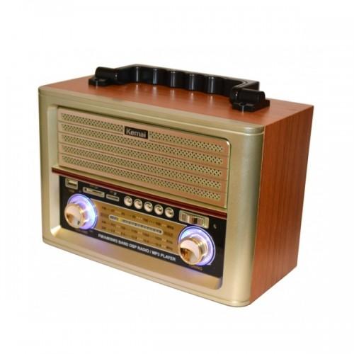 Портативная Ретро акустика с радио и плеером MD-1705U