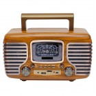 Портативная Ретро колонка - радиоприемник Kemai MD-101BT (Bluetooth, USB, SD, FM, AUX)