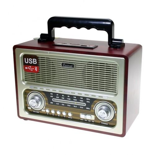 Портативная беспроводная Ретро акустика с радио и плеером Kemai MD-1800BT
