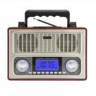Портативная Ретро колонка - радиоприемник Kemai MD-1801 UR (USB, SD, FM, AUX, ЖК экран)
