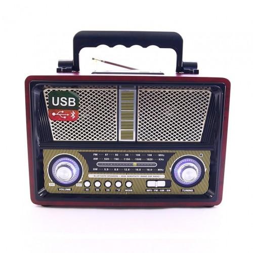 Портативная беспроводная Ретро акустика с радио и плеером Kemai MD-1802BT