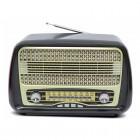 Портативная Ретро колонка - радиоприемник Kemai MD-1902BT (Bluetooth, USB, SD, FM, AUX)
