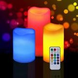 Набор декоративных свечей Rainbow с пультом