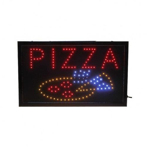 """Световая LED вывеска """"ПИЦЦА"""" для пиццерии 48 см х 25 см"""