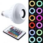Светодиодная разноцветная лампа с Bluetooth колонкой LED Music Bulb, дистанционное управление