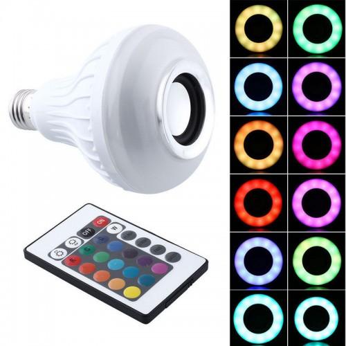 LED лампа мультиколор с Bluetooth колонкой и пультом LED Music Bulb Light