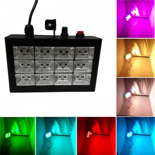 Светодиодный стробоскоп со звуковой активацией 12 LED
