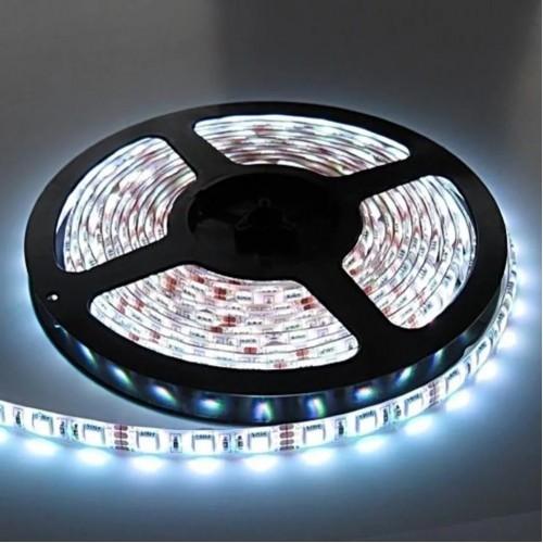 Белая (нейтральная) влагозащищенная светодиодная лента RGB 5050 - 5м, набор
