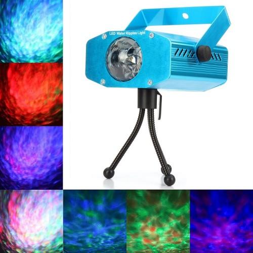 Светодиодный проектор водной ряби LED Water Ripples Light Projector, цветной RGB