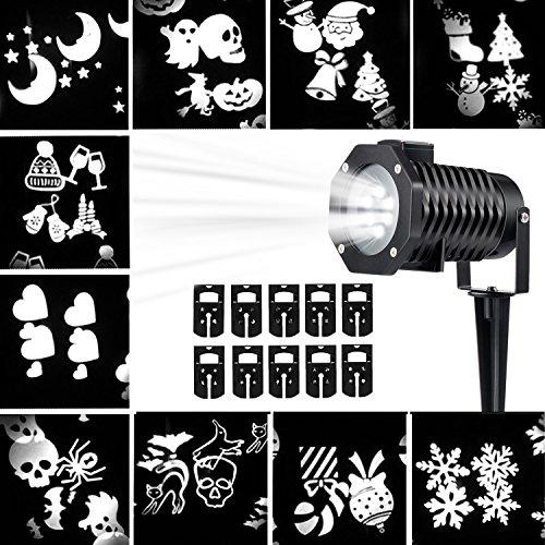 Декоративный влагостойкий уличный LED проектор LED 10 Pattern Projector White