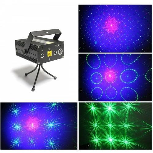 Трехцветная лазерная светомузыка Laser Stage HL-61, RG+B