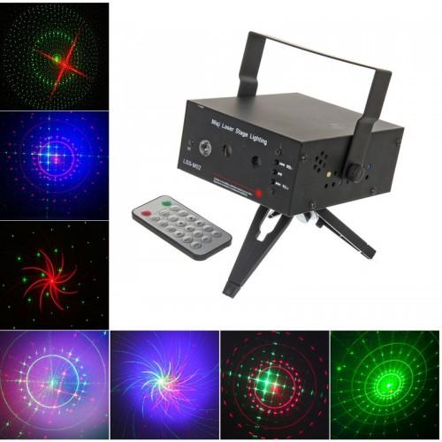Лазерная светомузыкальная установка с LED подсветкой Laser Stage LSS-M02, RG+B LED Stroboflash, MP3