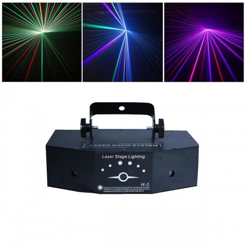 Трехцветная лазерная светомузыка Laser Stage Show System H-3