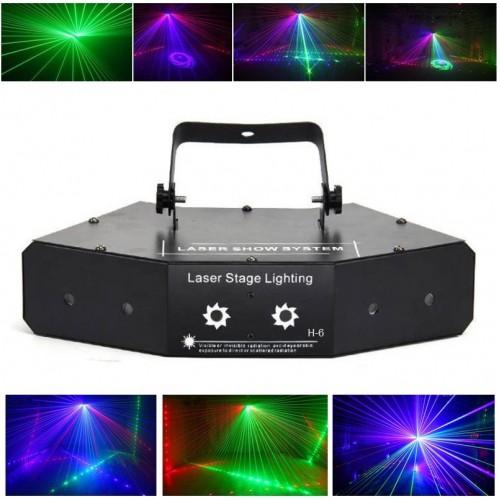 Многоцветная лазерная светомузыка Laser Stage Show System H-6