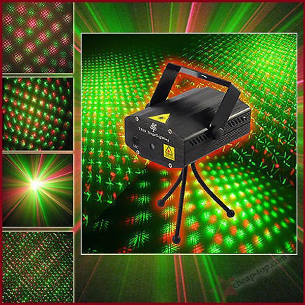 Лазерный проектор mini laser stage light