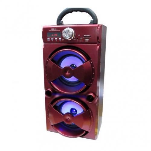 Портативная стерео колонка с подсветкой, встроенным MP3 плеером, Bluetooth и аккумулятором. 30 W
