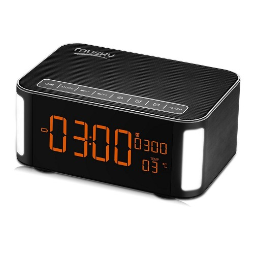 Функциональная беспроводная колонка с часами, термометром и будильником Musky DY-32