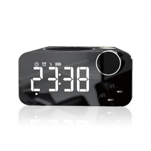 Функциональная беспроводная колонка с часами, календарем и будильником Musky DY-39