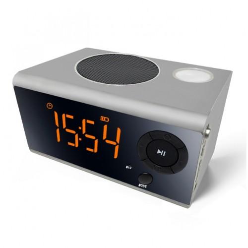 Функциональная беспроводная колонка с часами, календарем и будильником Musky DY-40