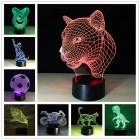 3D Лампа - ночник New Idea 3D Desk Lamp, 7 цветов