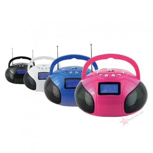 Мощный и компактный мини Бумбокс Perfeo Boombox с Bluetooth, MP3 и FM