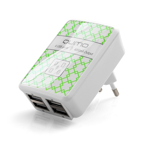 Сетевое зарядное устройство Qumo Energy 220.4
