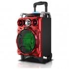 Мобильная акустическая стерео-система RX-801 (Bluetooth, USB, microSD, FM, AUX, Mic, LED)