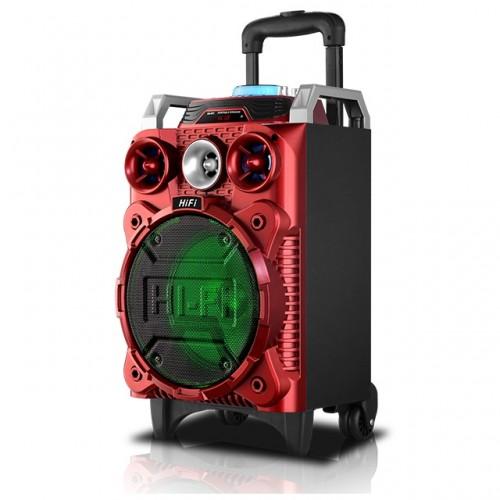 Портативная стерео-колонка с LED подсветкой, встроенным MP3 плеером, Bluetooth и аккумулятором RX-801