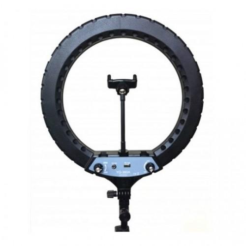 Кольцевой осветитель Ring Fill Light YQ-360A, 36 см с держателем для телефона, 45 Вт