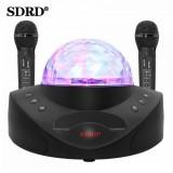 Беспроводная стерео караоке система+светомузыка SDRD SD-308 (USB/Bluetooth/TF/FM, 2 микрофона)