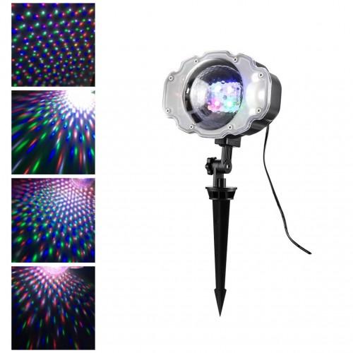 LED проектор падающего снега Snowfall Light, влагозащищенный, цветной