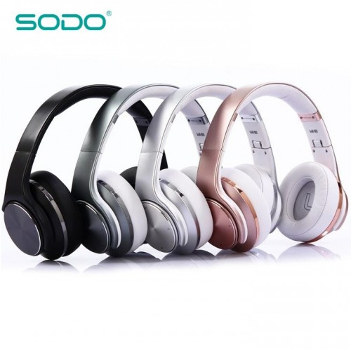 Bluetooth стерео-гарнитура с функцией колонок, MP3 плеером и радио Sodo MH5