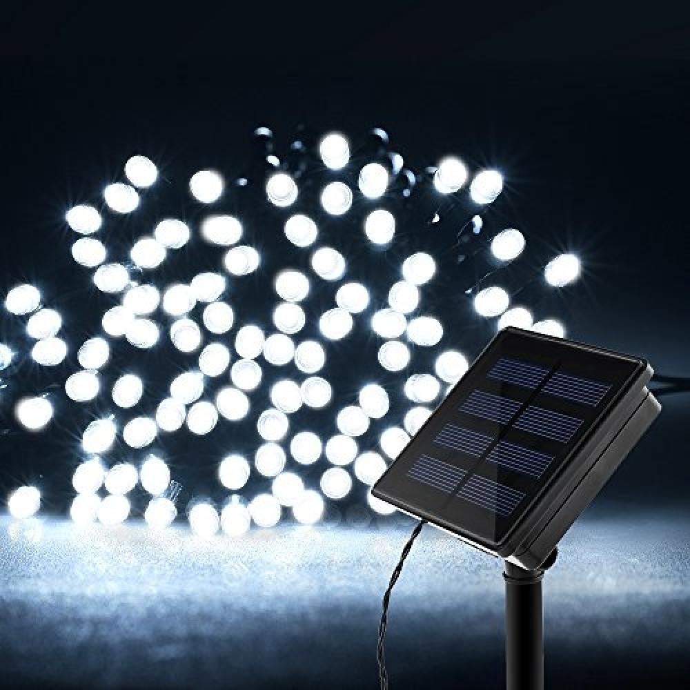 Картинки по запросу Светодиодная гирлянда на солнечной батарее 100 LED Solar Twist Lights белый цвет