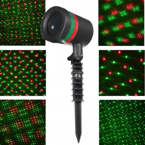Лазерный звездный проектор Star Shower Laser Christmas Light, влагозащищенный