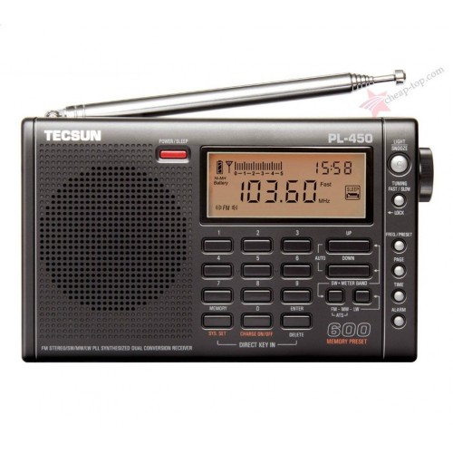 Цифровой радиоприемник двойного преобразования Tecsun PL-450 (FM, MW, SW, LW)