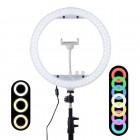 Кольцевая лампа для фото и видео съемки Mcoplus RL-13 RGB (33 см), мультиколор, штатив