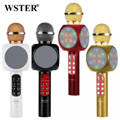 Колонка с функцией Караоке Микрофона Wster WS-1816 (USB, microSD, AUX, FM, Bluetooth)