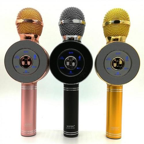 Колонка с функцией Караоке Микрофона Wster WS-668 (USB, microSD, AUX, Bluetooth)