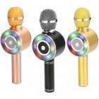 Беспроводной Микрофон Караоке Wster WS-669 (Bluetooth, MP3, FM, AUX, KTV, Rec, 4Voise)