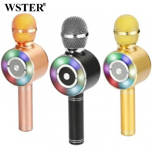 Колонка с функцией Караоке Микрофона Wster WS-669 (USB, microSD, AUX, Bluetooth)