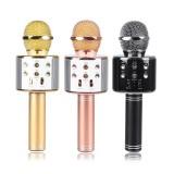 Беспроводная колонка - микрофон караоке Wster WS-858 (Bluetooth, MP3, AUX, KTV)