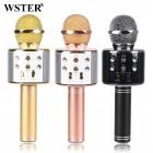 Беспроводной Караоке Микрофон Wster WS-858 (Bluetooth, MP3, FM, AUX, 4Voise, KTV, REC)