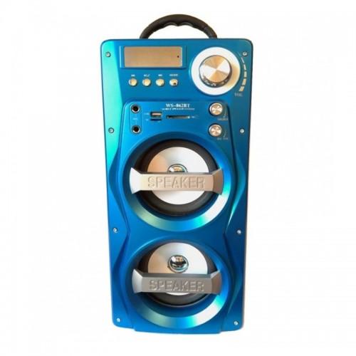 Портативная стереосистема HiFi Multimedia Wooden Speaker Wster WS-862